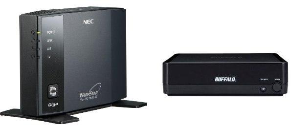 NEC WL300NE-AG、BUFFALO WLI-TX4-AG300N